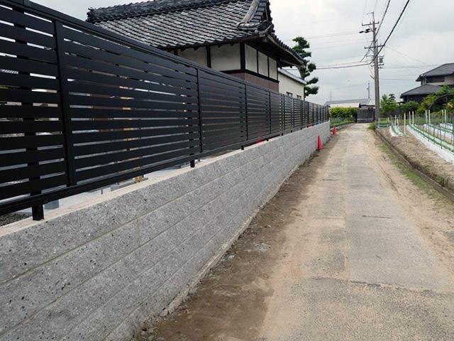 20180704アートスペースのフェンス工事01