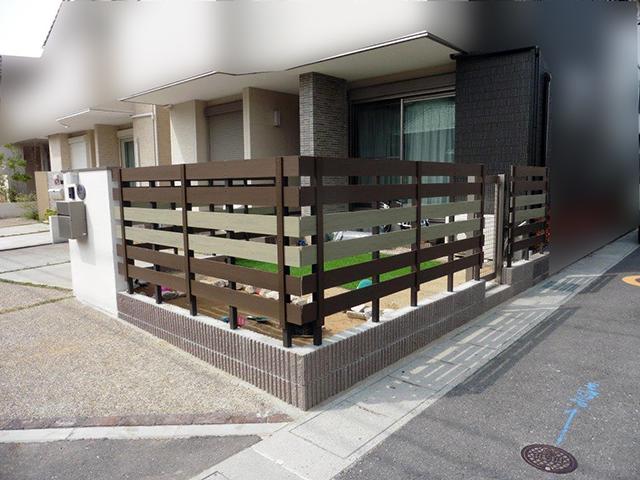 20180627アートスペースのフェンス工事05